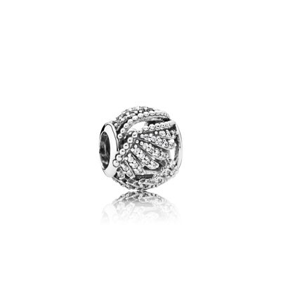 PANDORA Majestic Feathers with Clear CZ Openwork Charm